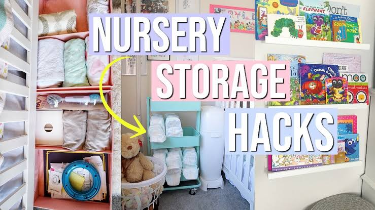 Some essential nursery storage hacks and ideas